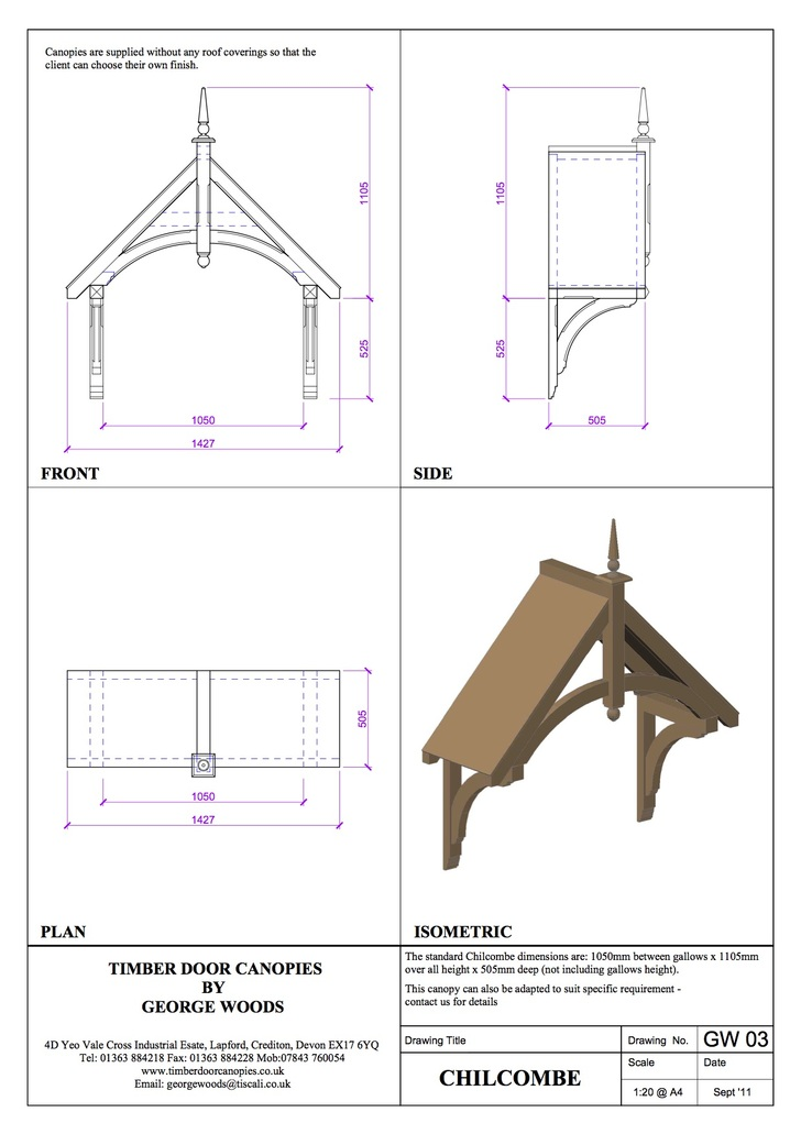 CAD Drawings | Timber Door Canopies by George Woods
