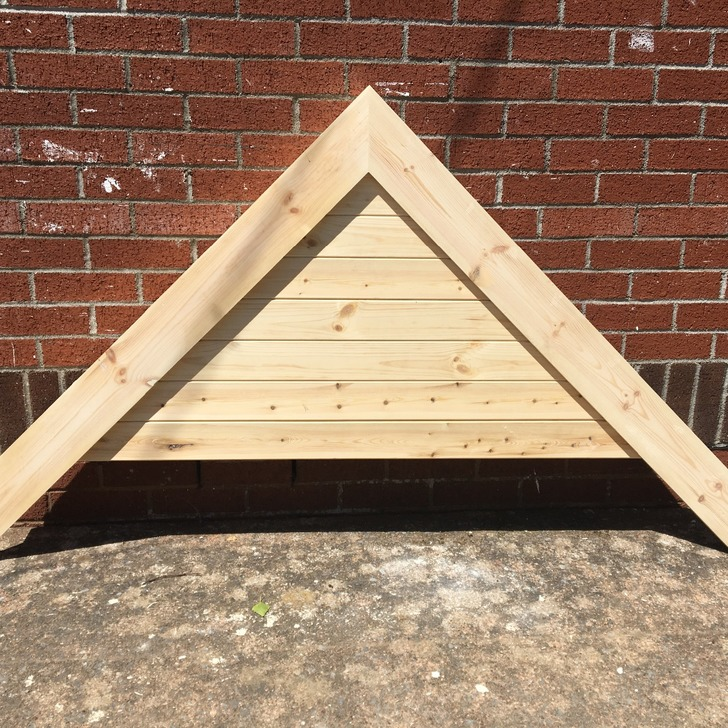 Bespoke design A frame canopy with Shiplap detail to the front