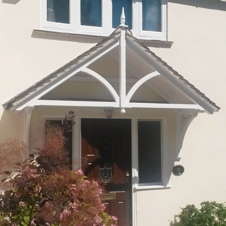 A bespoke large A frame canopy, similar to our Ashcombe style