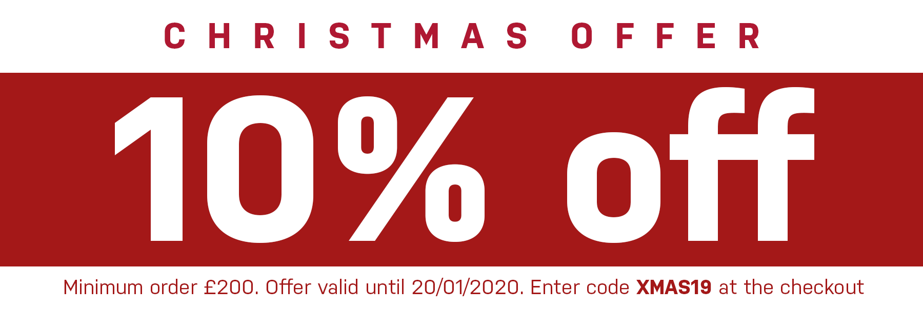10% OFF All canopies this December!